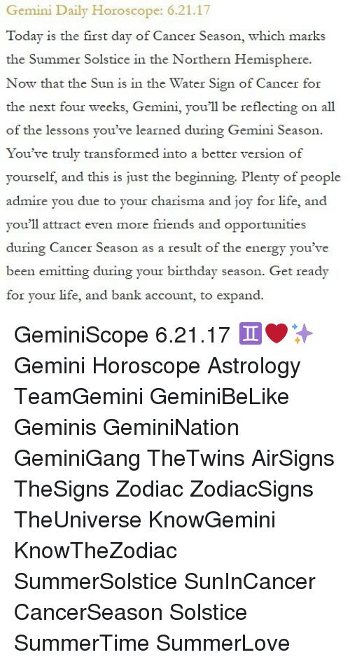 zodiac sign birthday today ; gemini-daily-horoscope-6-21-17-today-is-the-first-day-of-23567798